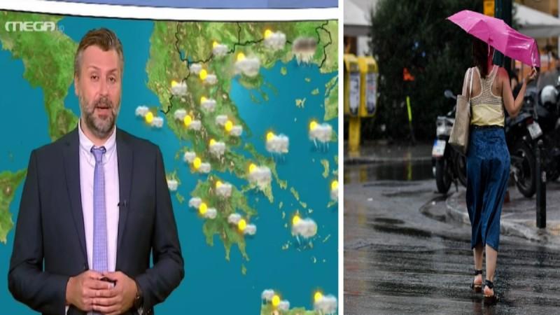 Καιρός σήμερα 1/6: Βροχές και καταιγίδες βόρεια και ανατολικά - Πού υπάρχει πιθανότητα χαλαζόπτωσης σύμφωνα με τον Καλλιάνο (Video)
