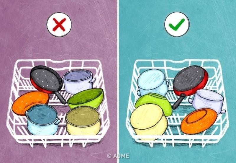 Τοποθετήστε τα πιάτα ανάποδα στο πλυντήριο πιάτων