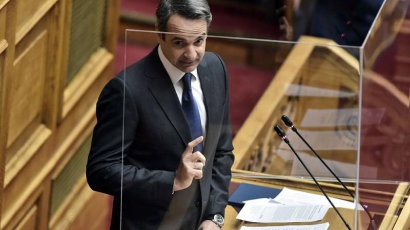Ο Κωνσταντίνος Μητσοτάκης στη Βουλή