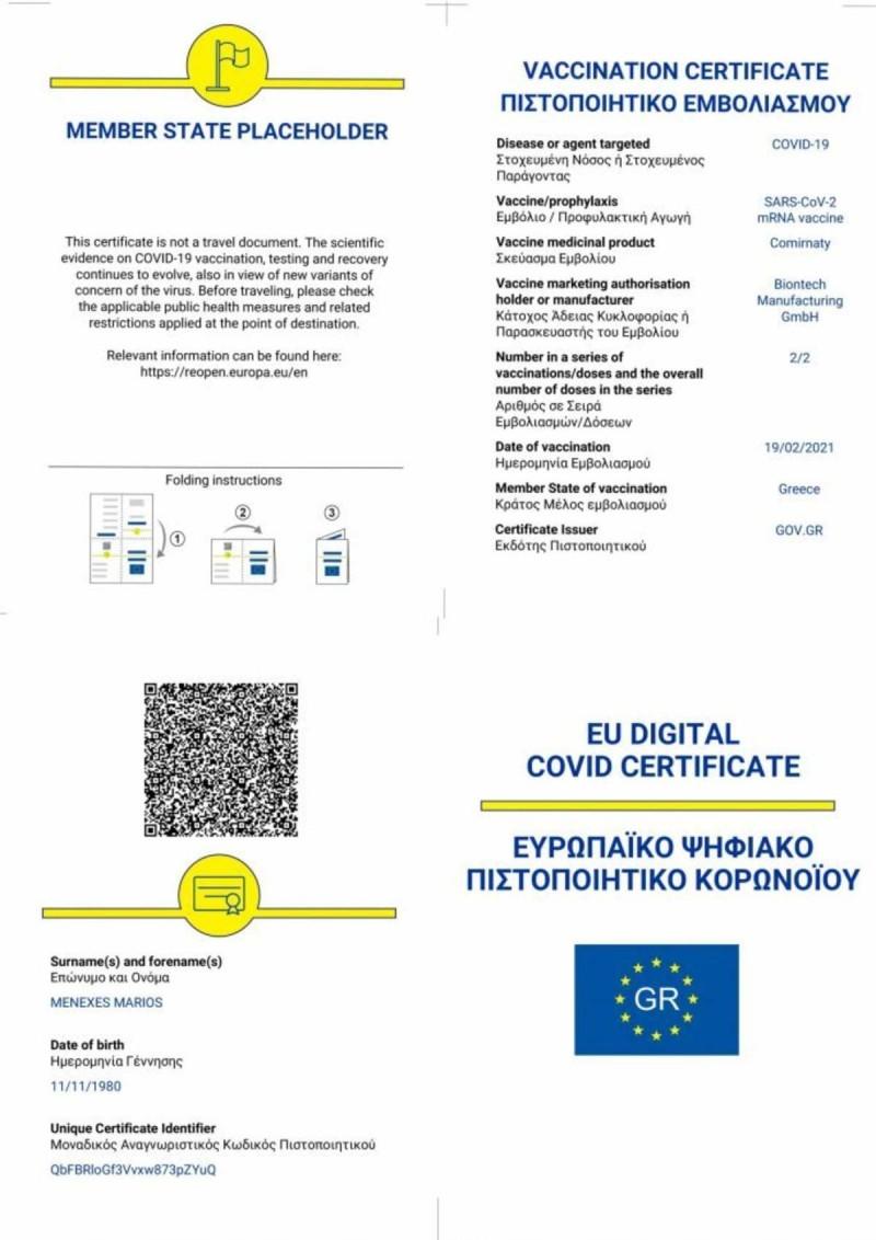 Ψηφιακό πιστοποιητικό Ελλάδα