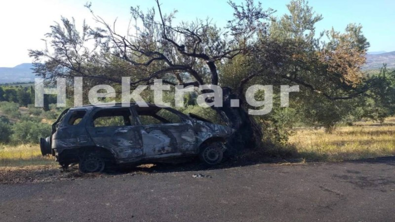 Φρίκη στην Κορινθία: Εντοπίστηκε καμένο αυτοκίνητο με απανθρακωμένο τον οδηγό