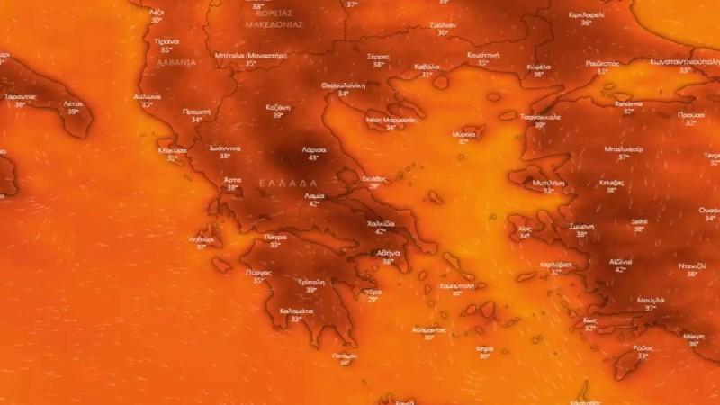 Καιρός: 10ήμερος καύσωνας θα βράσει την χώρα - Εδώ θα σημειωθούν 43αρια