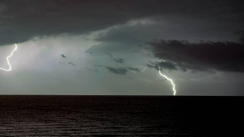επιδείνωση καιρού καταιγίδα