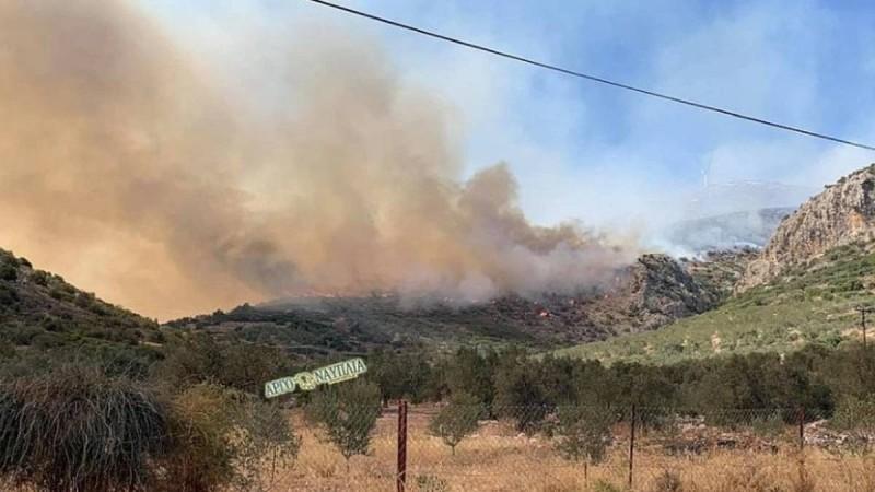 Διαστάσεις θρίλερ παίρνει η πυρκαγιά στο Αραχναίο Αργολίδας: Εκκενώθηκε ο οικισμός Γκάτζια