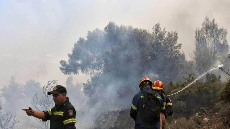 Φωτιά σε δασική έκταση στο Θύριο Βόνιτσας