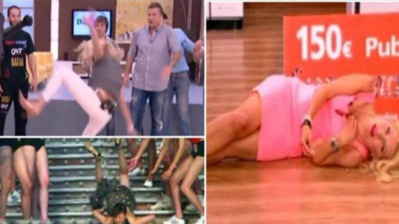 Αθάνατη ελληνική τηλεόραση! Δείτε απολαυστικές τούμπες που άφησαν ιστορία!