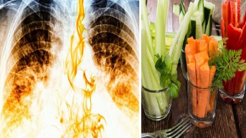 Οι 5+1 τροφές που συμβάλλουν στον καθαρισμό των πνευμόνων από τη νικοτίνη του τσιγάρου