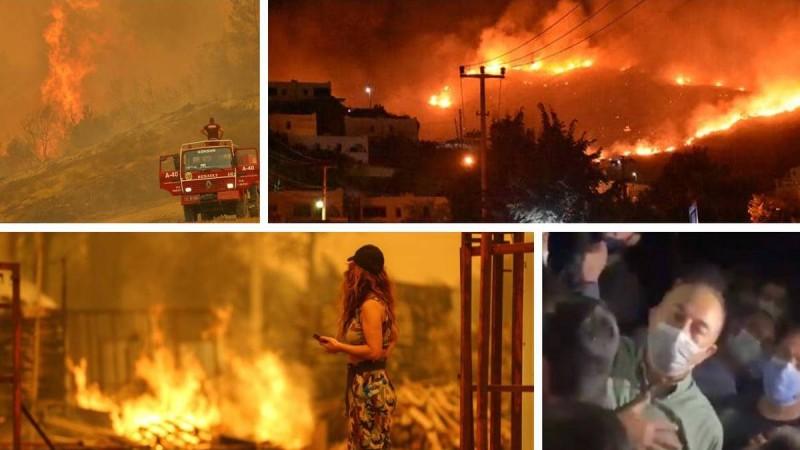 Ασύλληπτες διαστάσεις παίρνουν οι πυρκαγιές στην Τουρκία: Τέσσερις νεκροί, επίθεση κατοίκων στον Τσαβούσογλου