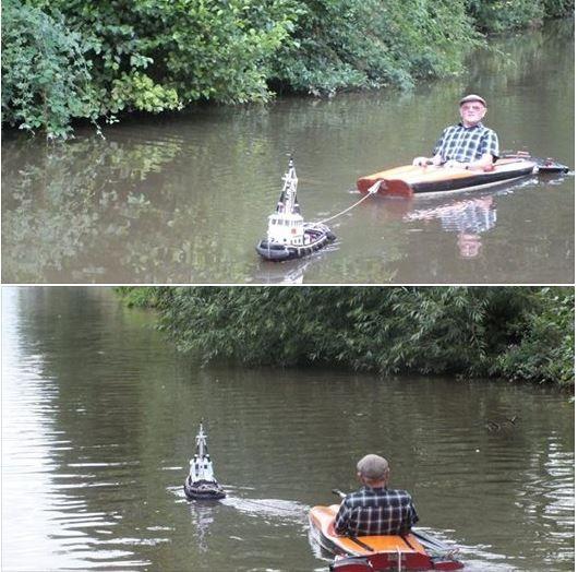 βάρκα παππούς λίμνη