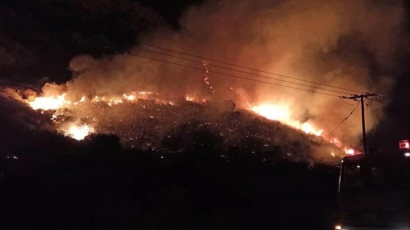 Φωτιά στα Χανιά
