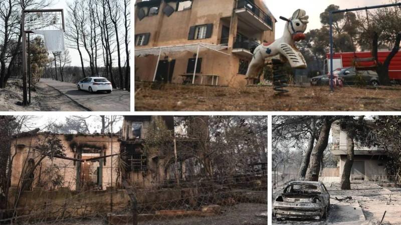 Φωτιά στη Βαρυμπόμπη: Η επόμενη μέρα - Παντού αποκαΐδια άφησε η πύρινη λαίλαπα!