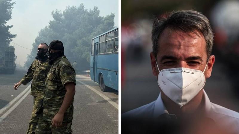 Απόφαση Κυριάκου Μητσοτάκη: Ρίχνεται και ο στρατός στη μάχη με τις φωτιές!