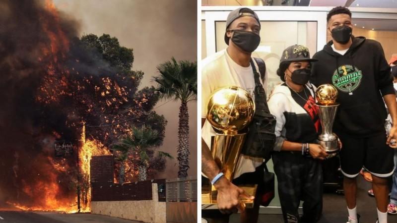 «Ευχόμαστε να μην έχουμε θύματα από τη φωτιά»: Ο Γιάννης Αντετοκούνμπο για τη τεράστια πυρκαγιά στη Βαρυμπόμπη!