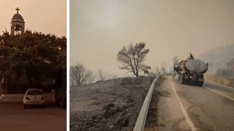 Σε κατάσταση εκτάκτου ανάγκης η Βόρεια Εύβοια: Η ανατριχιαστική στιγμή που χτυπούν οι καμπάνες στις Κεχριές - Μήνυμα από το 112 να φύγουν όλοι!