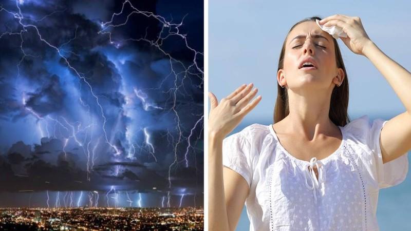 Τρελάθηκε ο καιρός: Φεύγει ο καύσωνας, έρχονται καταιγίδες και χαλάζι!