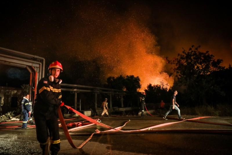 Εύβοια πυροσβέστες τραυματίες