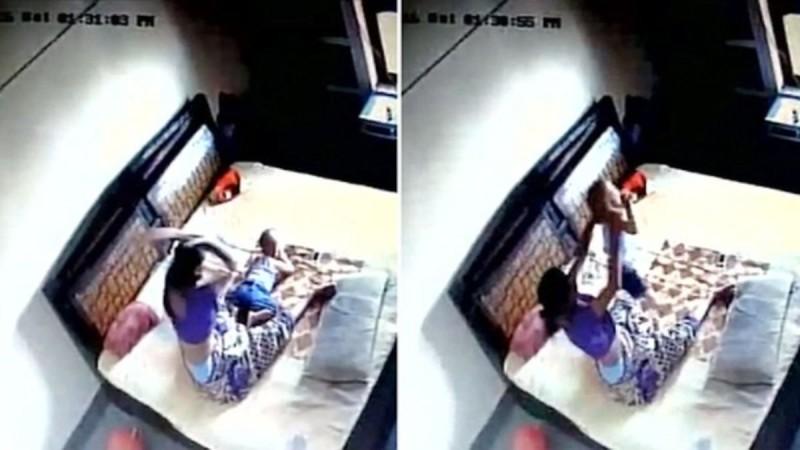 Υποπτευόταν πως η γυναίκα του χτυπάει το παιδί τους. Αυτό που κατέγραψε η κρυφή κάμερα, θα σας σοκάρει!