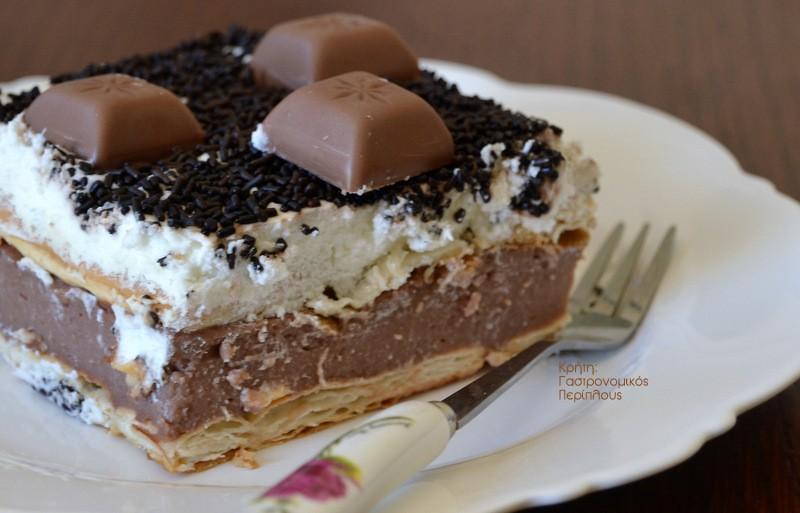 Σοκολατένιο γλυκό ψυγείου με cream crackers