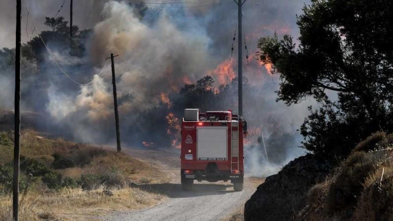Φωτιά στην Εύβοια - Οι περιοχές που κινδυνεύουν με τον καύσωνα του Σεπτεμβρίου