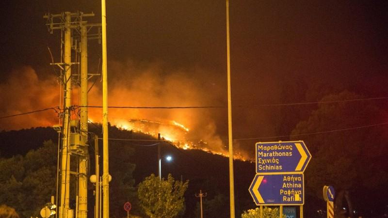 Φωτιά στη Νέα Μάκρη - Κοντά στο μοναστήρι του Αγίου Εφραίμ