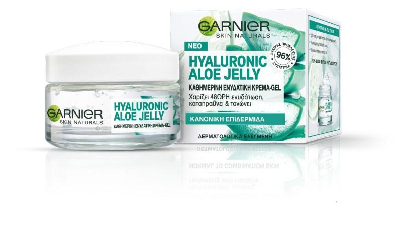 Hyaluronic Aloe: H μοναδική εμπειρίακαθαρισμούκαι εντατικήςενυδάτωσης από τη Garnier