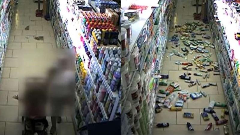 Κρήτη: Σοκαριστικό βίντεο από το σεισμό - Μωρό γλυτώνει το τελευταίο δευτερόλεπτο