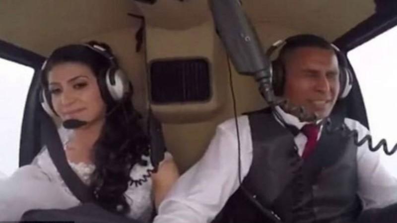 Νύφη κατέγραψε με κάμερα τον θάνατό της! Σκοτώθηκε ενώ πήγαινε με ελικόπτερο στο γάμο (vid)