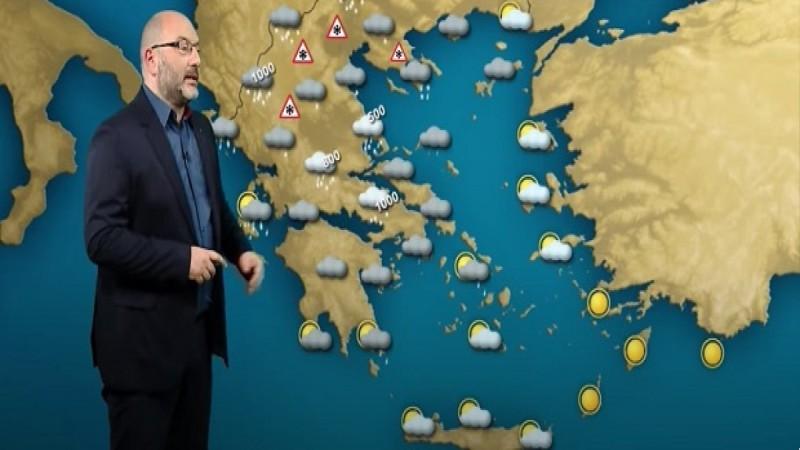 Ο Σάκης Αρναούτογλου χτυπά «καμπανάκι»: Έρχεται χειρότερη επιδείνωση! Η κακοκαιρία «Μπάλλος» φέρνει βροχές, καταιγίδες & χιόνια
