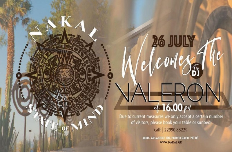 To NAKAL- State of Mind υποδέχεται τον Dj Valeron για το απόλυτο beach party experience
